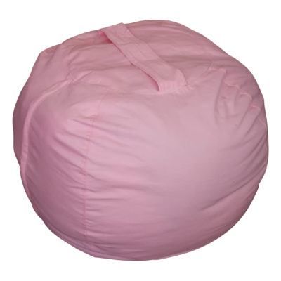 Extra Large Stuffed Animal Storage Bean Bag Chair (Pink)