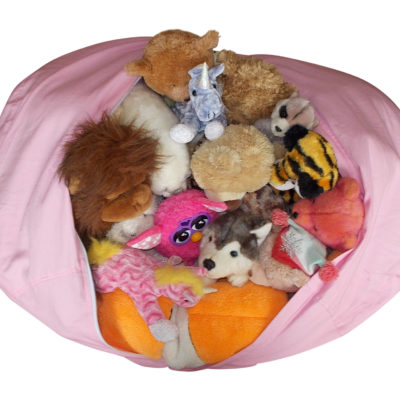 extra large stuffed animal storage bean bag chair blue jaxgizmos. Black Bedroom Furniture Sets. Home Design Ideas